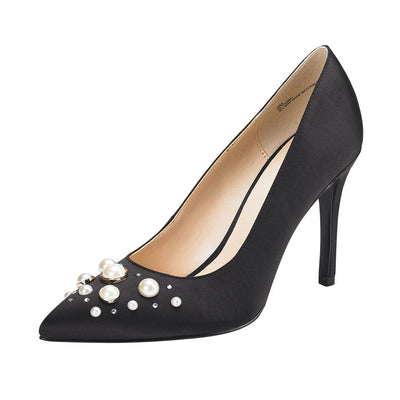 Clio Stiletto Pointed Top Pump Black