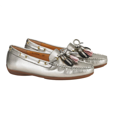 Calliope Dockside Loafer Flat Silver