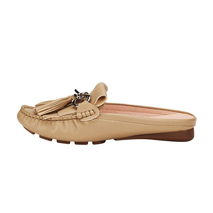 Leto Mule Flat Shoes Beige