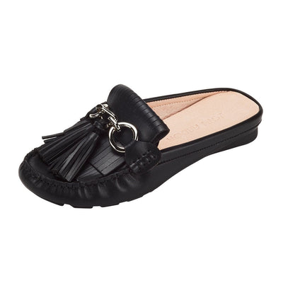 Leto Mule Flat Shoes Black