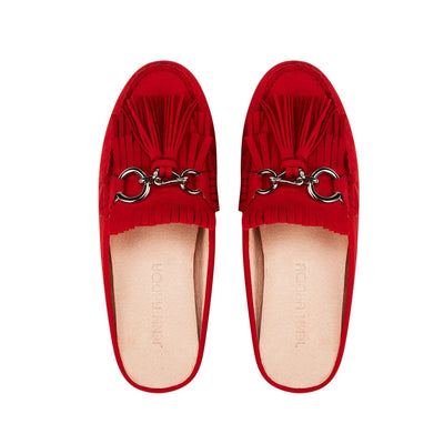 Leto Mule Flat Shoes Red