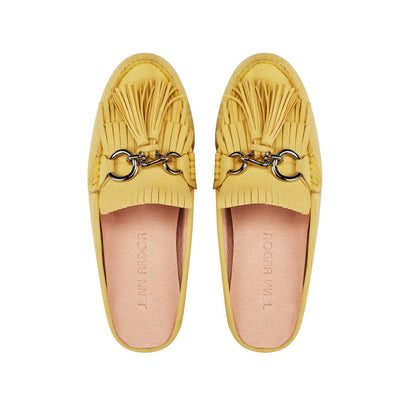 Leto Mule Flat Shoes Yellow