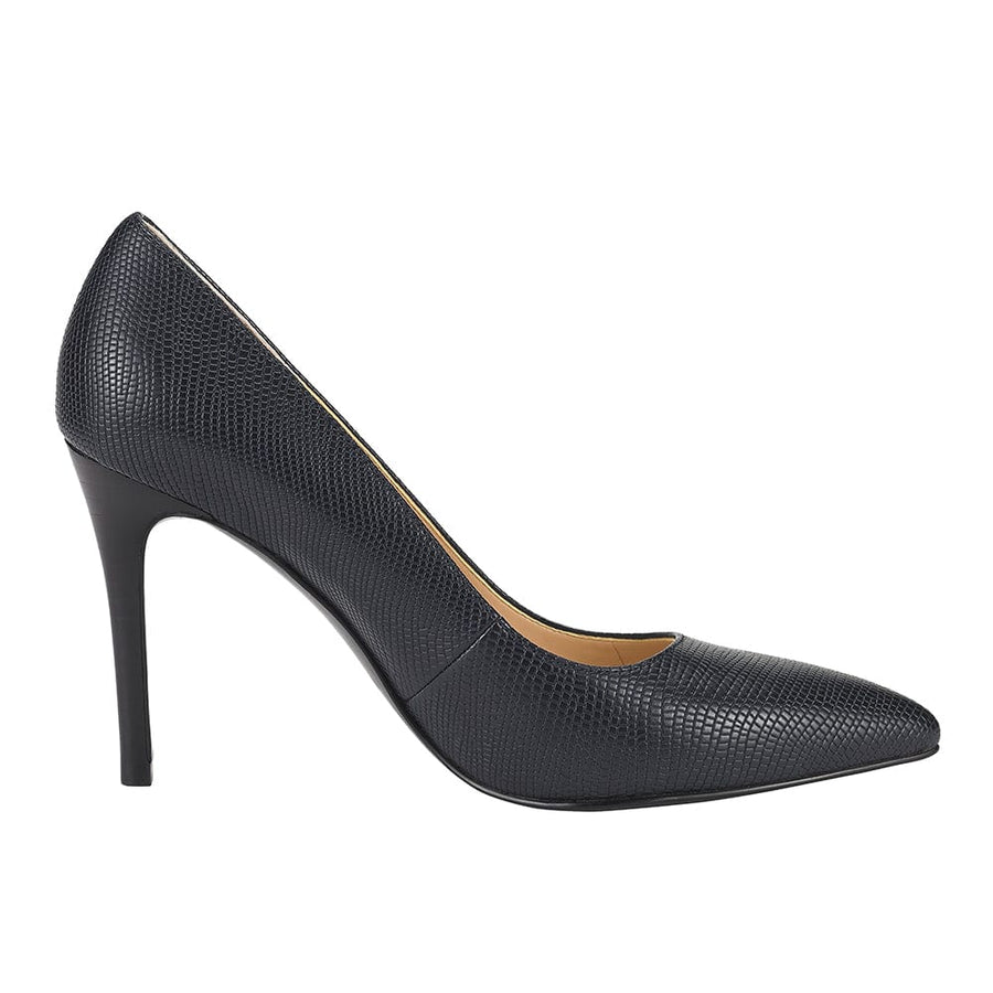 Urania Stiletto Heel Pump Navy Blue
