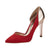 Athene Stilleto D'Orsay Pump Red
