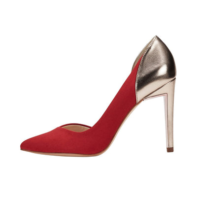 Stilleto D'Orsay Pumps Red
