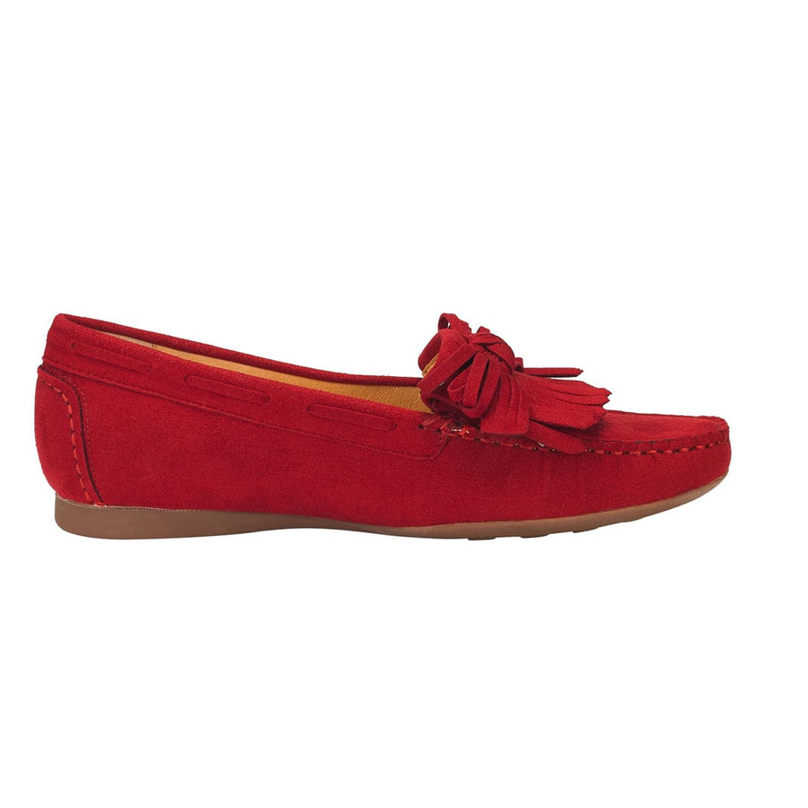 Euphrosyne Tassel Trim Dockside Red