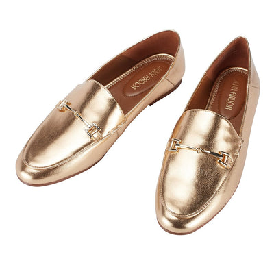 Hestia Loafer Flat Gold