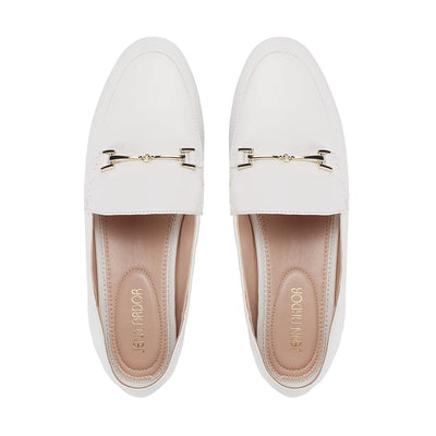 Hestia Loafer Flat White White