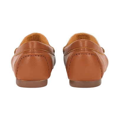 Women Moccasin Flats Brown