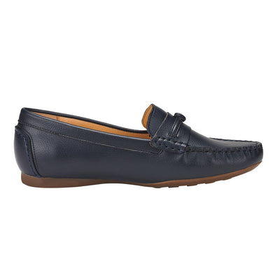 Thalia Moccasin Flat Shoes Navy