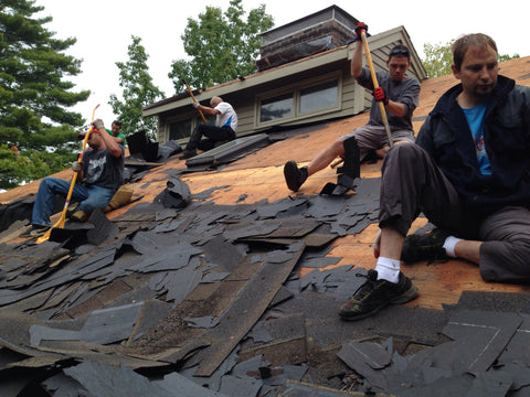 Tear Off asphalt shingles