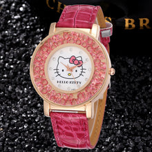 Load image into Gallery viewer, Hello Kitty gold tone pink ice womans watch ships free in 3-5 days - HW-WATCHEZ HWWATCHEZ.COM