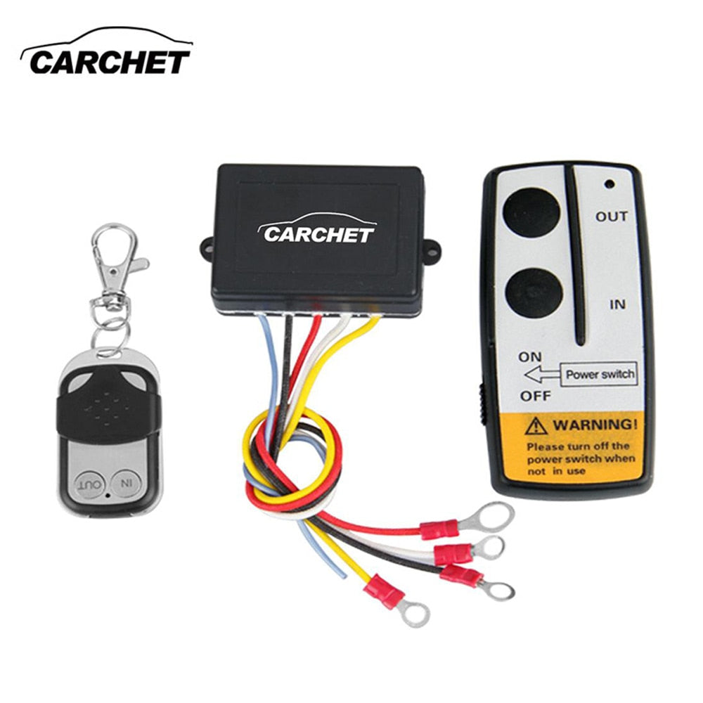 CARCHET 50ft  Wireless Remote Control Set Waterproof  for Truck Jeep ATV Winch