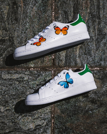 STAN SMITH : BUTTERFLY (3 papillons/pieds)
