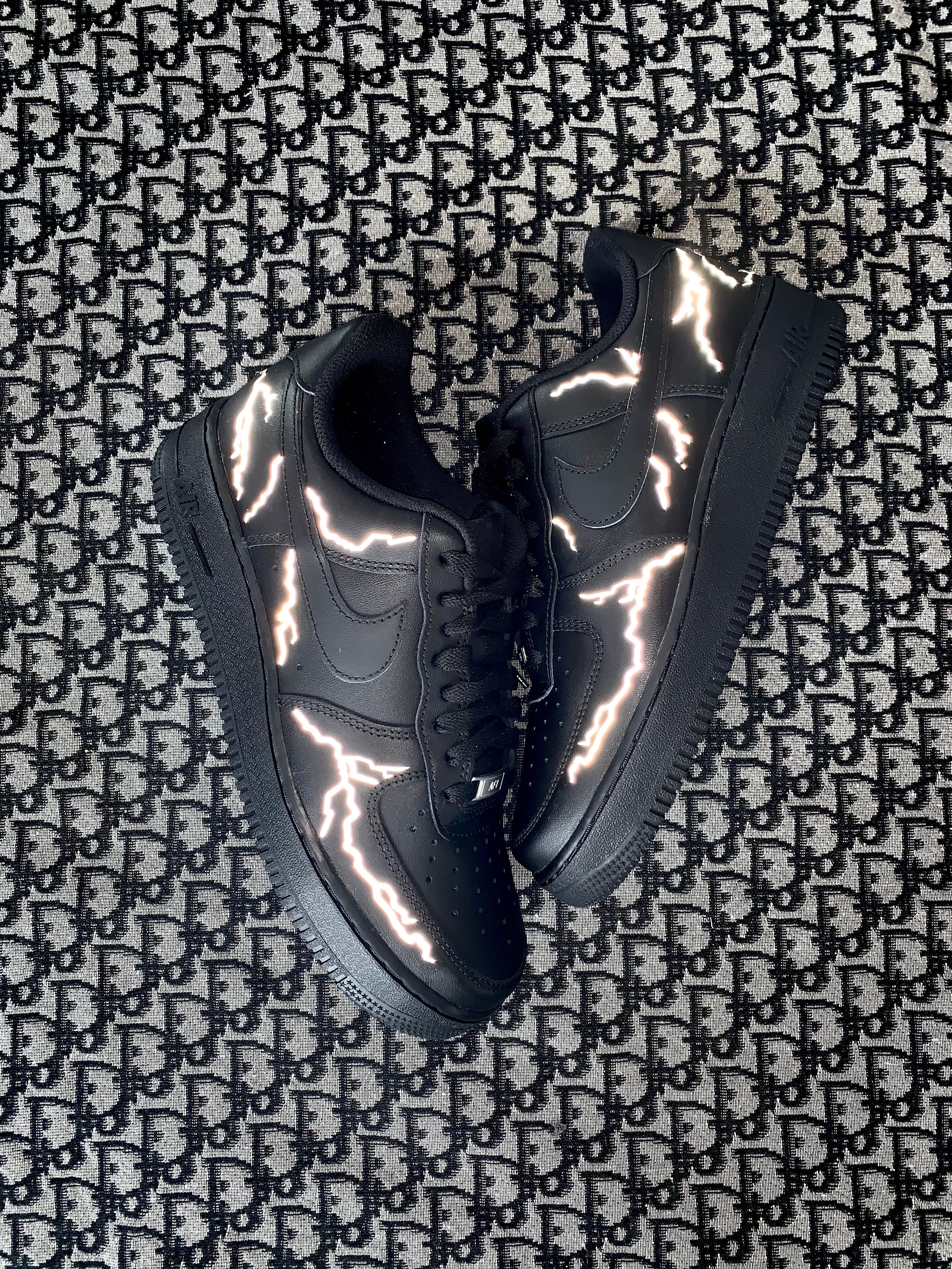 AIR FORCE ONE BLACK : 3m reflective