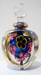 Roger Gandelman's Art Glass Perfume Bottle Signed by Artist