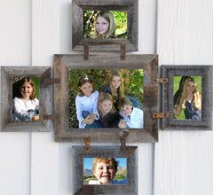 Collage Wooden Picture Frames w/Glass (1)8x10 (4)4x6