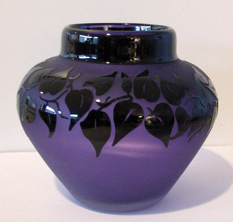 Correia Art Glass Vase Purple Limited Edition 113/500 Signed