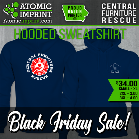 Central Furniture Rescue - Premium Midweight Hooded Sweatshirt