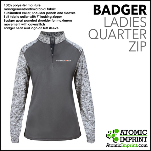 Fasteners Plus Badger Quarter-Zip Ladies Jacket