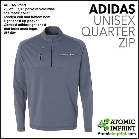 Fasteners Plus Adidas Quarter-Zip Unisex  Jacket