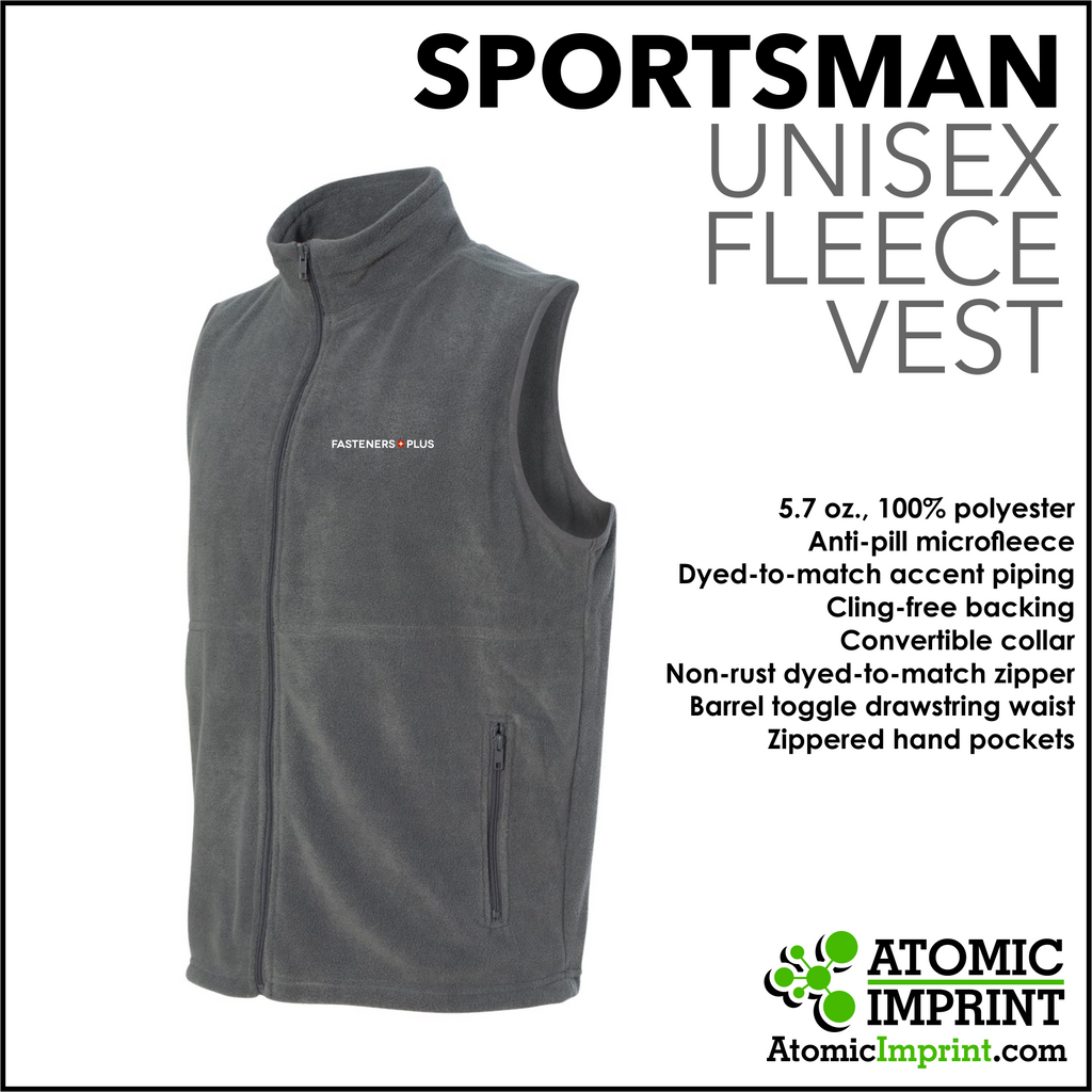 Fasteners Plus Unisex Fleece Vest
