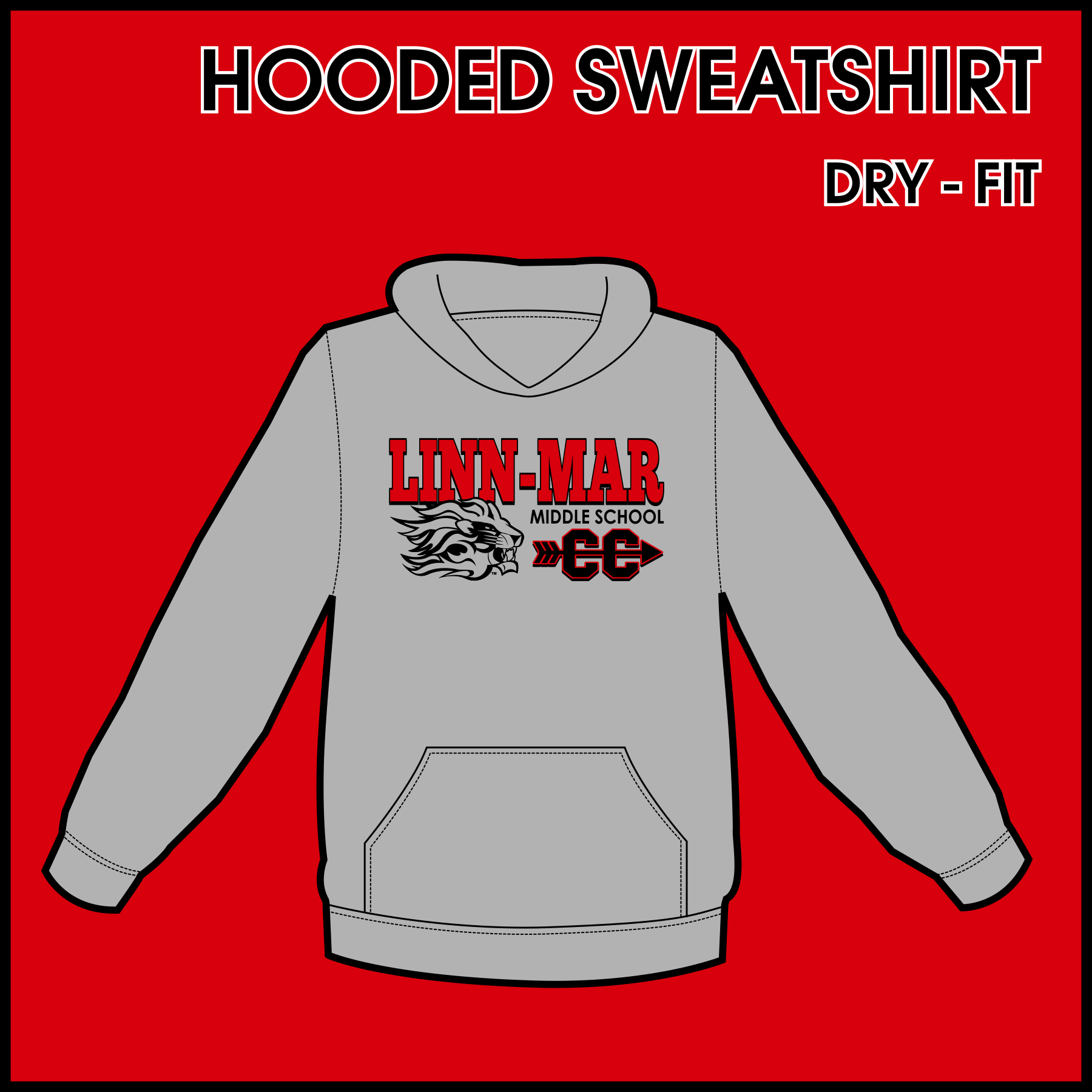 Linn-Mar Middle School Cross Country Dry-Fit Hoodie