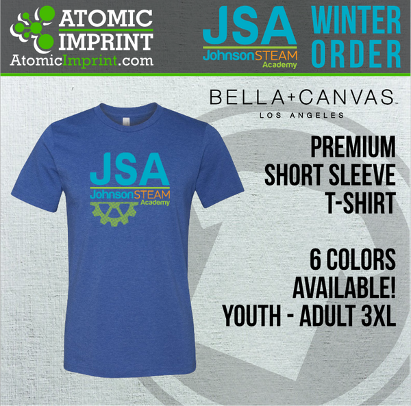 JSA - Premium Blend Short Sleeve Tee-Youth Size