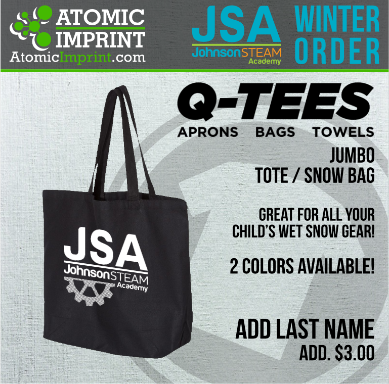 2019 JSA - Jumbo Canvas Tote / Snow Bag