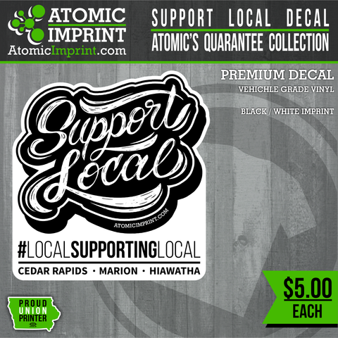 Atomic QuaranTEE Collection -  Support Local Decal