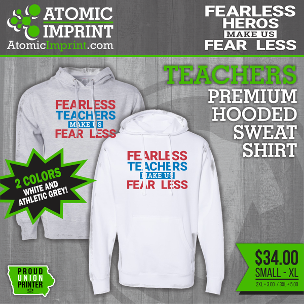 Fearless Hero Hooded Sweatshirts