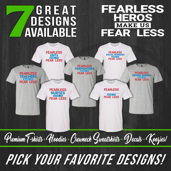 Fearless Hero Long Sleeve T-Shirts