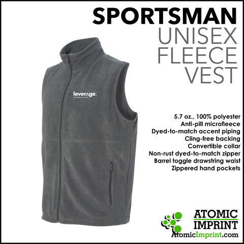 Leverage Unisex Fleece Vest