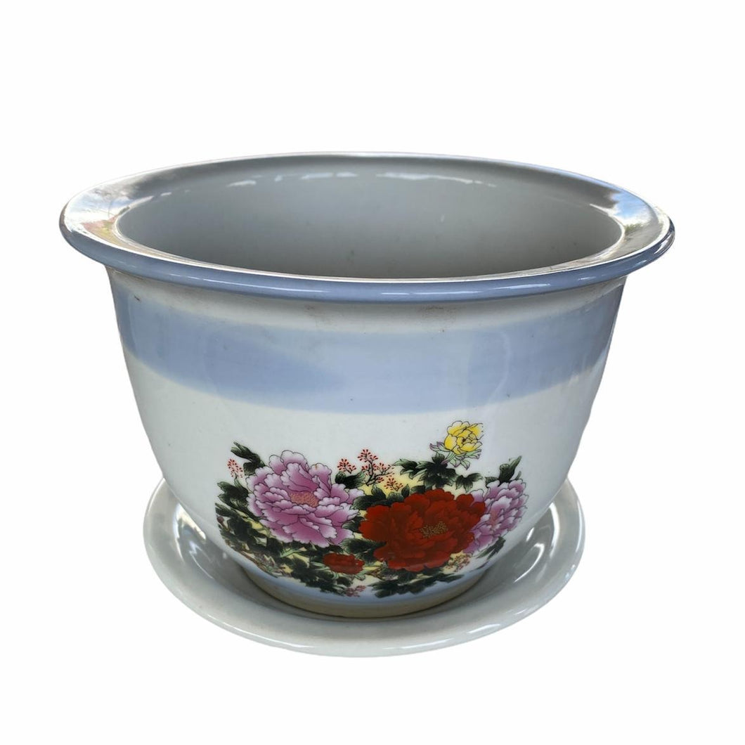 Oriental Designer Blue and White Pot