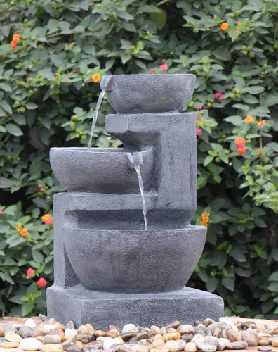 Cascading Waterfall Water Fountain - Elias Green Garden Centre