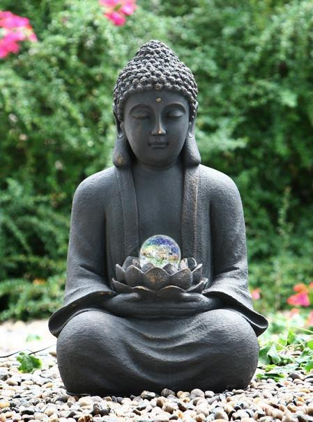 Buddha with Crystal Ball Water Feature | Garden Water Feature | Fountains/Water Features
