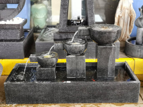 Bali 3 Steps Water Fountain (FT 074 - Black)