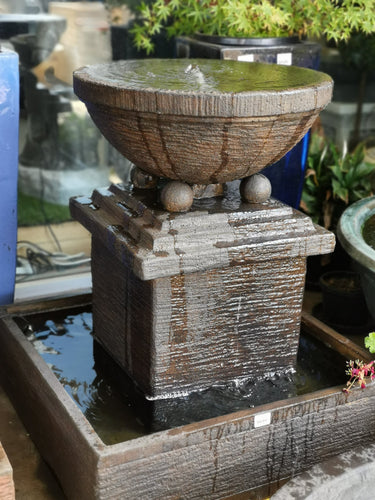 Bali Wishing Bowl Water Fountain (FT 176) - Elias Green Garden Centre