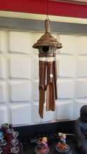 Load image into Gallery viewer, Bali Bamboo windchime with coconut bird house