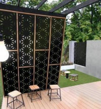 Load image into Gallery viewer, Star Jasmine 80% Block Out Screen Panel | Decorative Garden Screen | Outdoor Decor