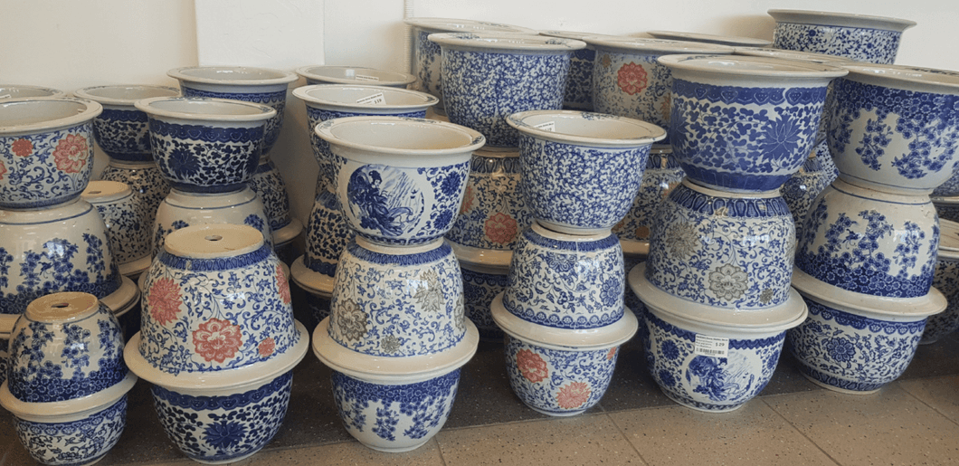 Oriental Classic Blue and White Pot | Oriental Chinese Pots | Pottery