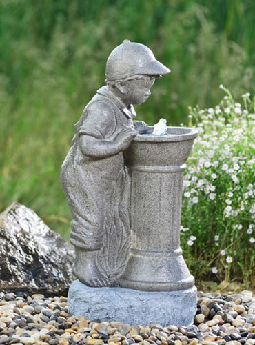 Boy with Bowl Water Fountain - Elias Green Garden Centre