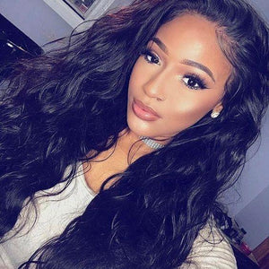BRAZILIAN VIRGIN BODY WAVY FULL LACE WIG
