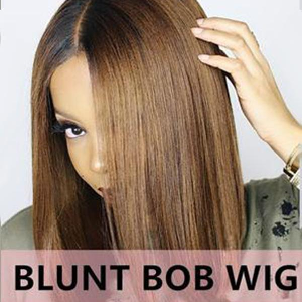 BLACK/BROWN OMBRE BLUNT BOB WIG