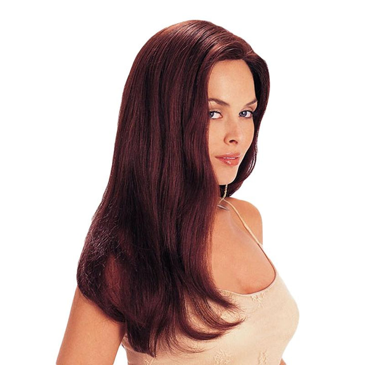 LONG STRAIGHT WIGS SYNTHETIC HAIR WIG WINE RED