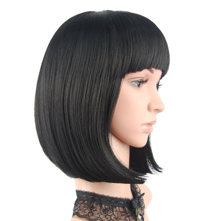 "ENILECOR SHORT HAIR BOB WIG 12 ""STRAIGHT HEAD"