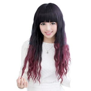 LIGHT BANGS NATURAL WAVE LONG CURLY WIG