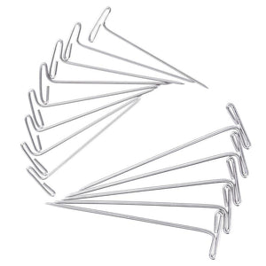 STEEL T-PINS 2 INCH, 1-1/ 2 INCH FOR BLOCKING KNITTING, MODELLING,150 PIECES