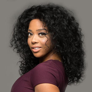 16INCH HUMAN HAIR WIG FOR BLACK WOMEN BIG CURLY