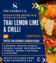 Load image into Gallery viewer, Thai Lemon Lime & Chilli Spice Blend with Saffron